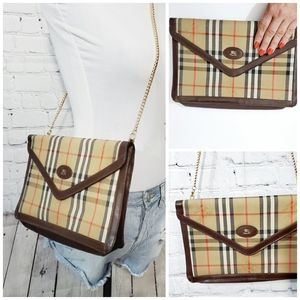 Burberry vintage authentic large clutch crossbody